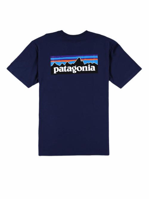 Patagonia T-Shirt M's P-6 Logo Responsibili blau