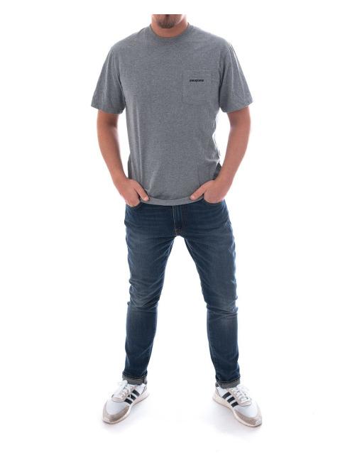 Patagonia T-Shirt P-6 Logo Pocket Responsibili-Tee grau