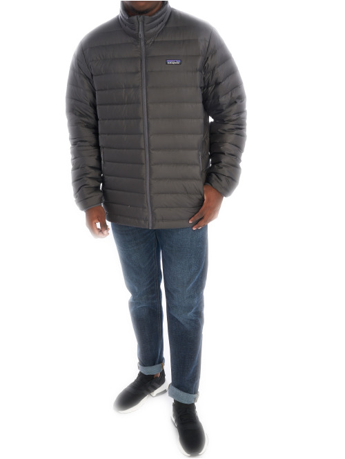 Patagonia Übergangsjacke M's Down Sweater grau