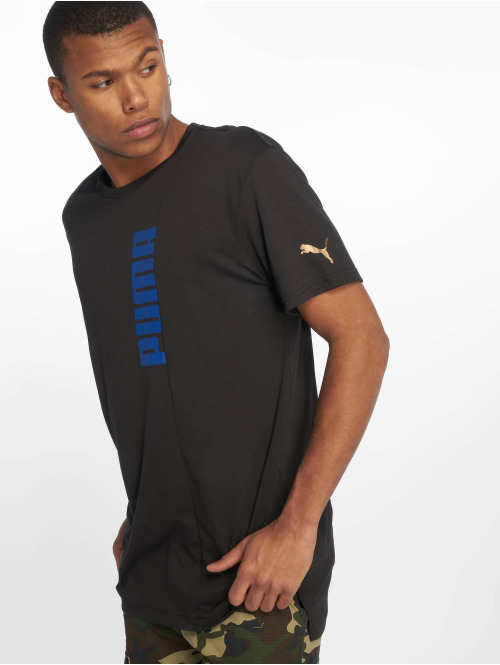 Puma Performance t-shirt Triblend Graphic zwart