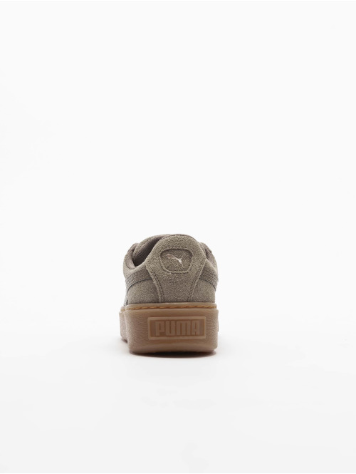 Puma Schuhe Suede Platform grün