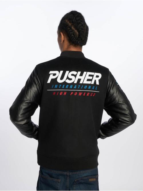 Pusher Apparel Übergangsjacke Varsity schwarz