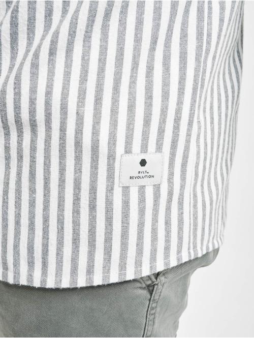 Revolution Hemd Long Sleeve Striped grau