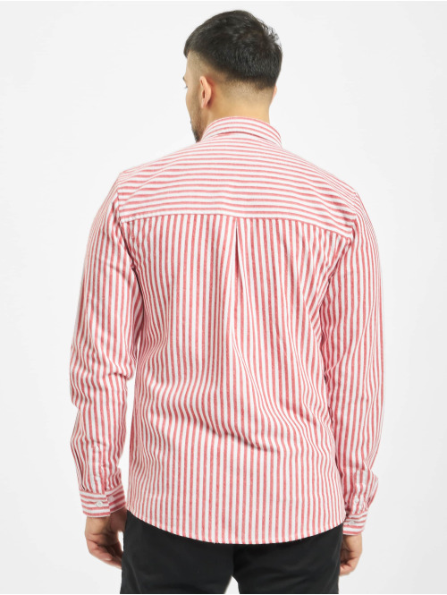 Revolution Hemd Long Sleeve Striped rot