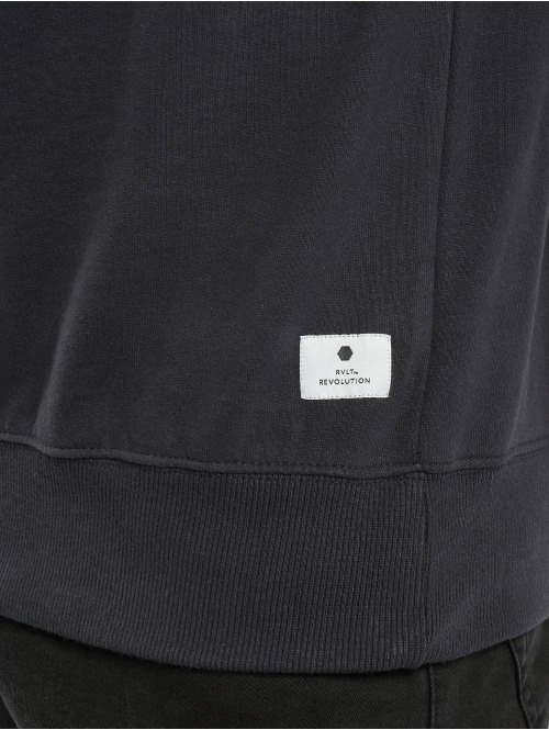 Revolution Pullover Stitching Details blau