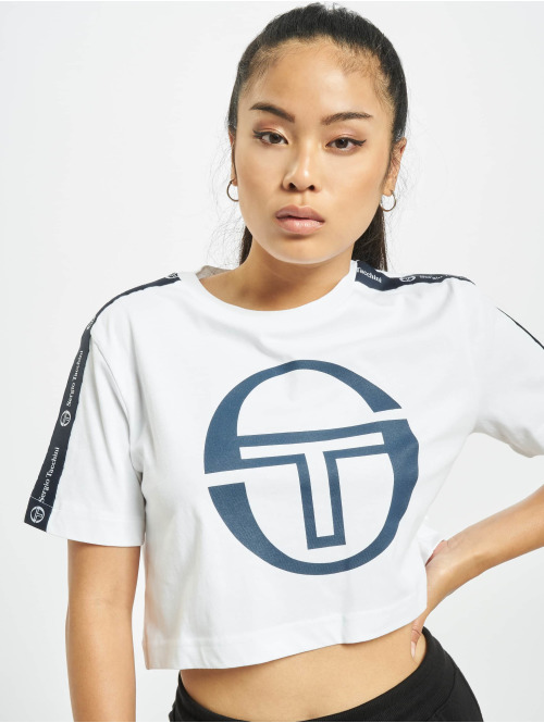 Sergio Tacchini T-Shirt Romina Cropped Logo Tape weiß