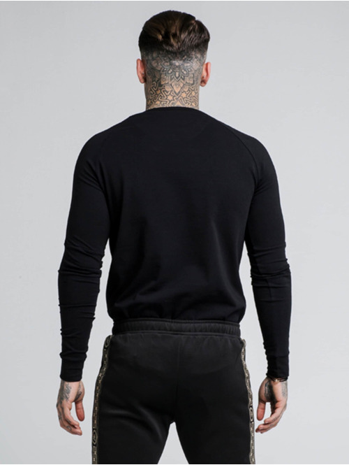 Sik Silk Longsleeve Cartel Gym schwarz