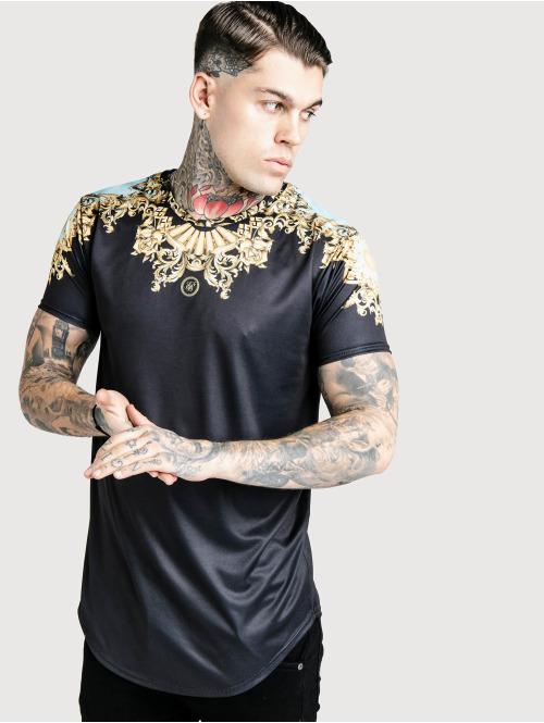 Sik Silk T-Shirt Lord Curved Hem schwarz