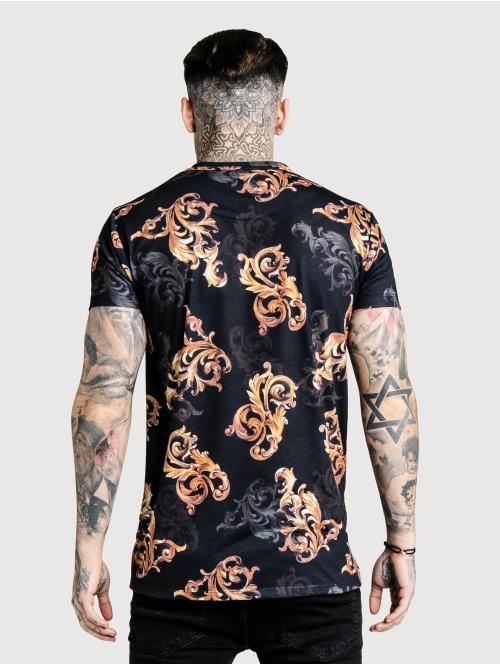 Sik Silk T-Shirt Reverse Collar schwarz