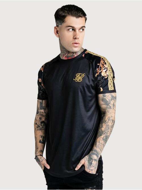 Sik Silk t-shirt  Curved Hem Gym T-Shirt B...