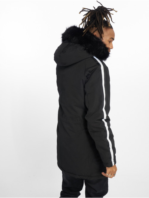 Sixth June Parka Stripes schwarz