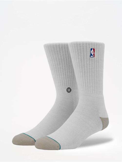Stance Socken On Court Collection Logoman Crew weiß