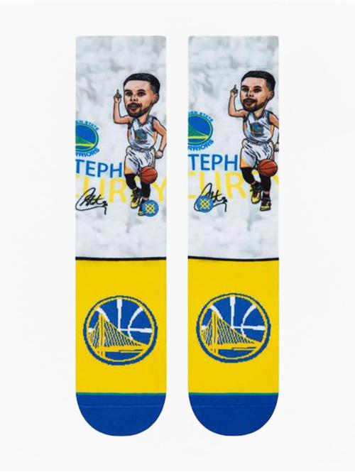 Stance Socken Curry Big Head weiß