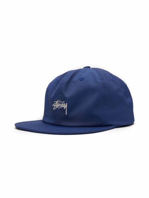 Stüssy Fitted Cap Stock Poly blau