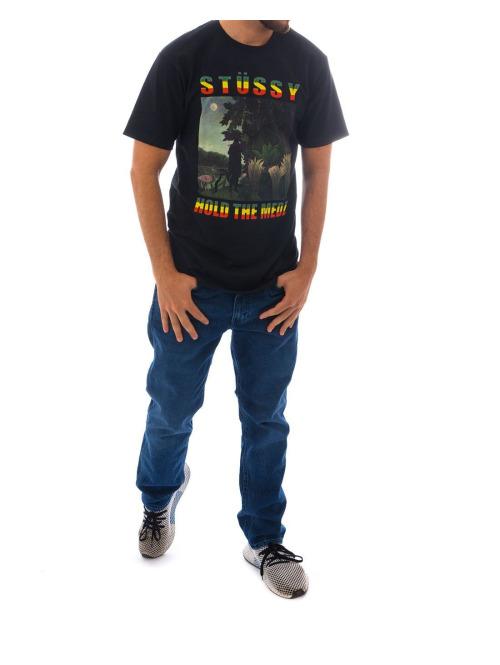 Stüssy T-Shirt Hold The Medz schwarz