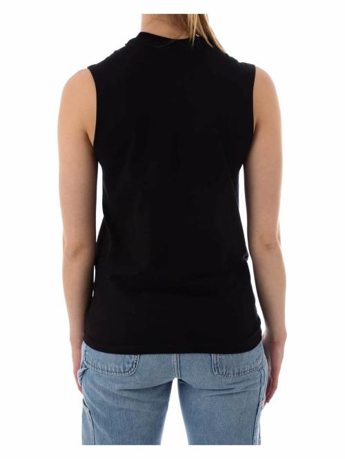 Stüssy T-Shirt Stock Raw Muscle schwarz