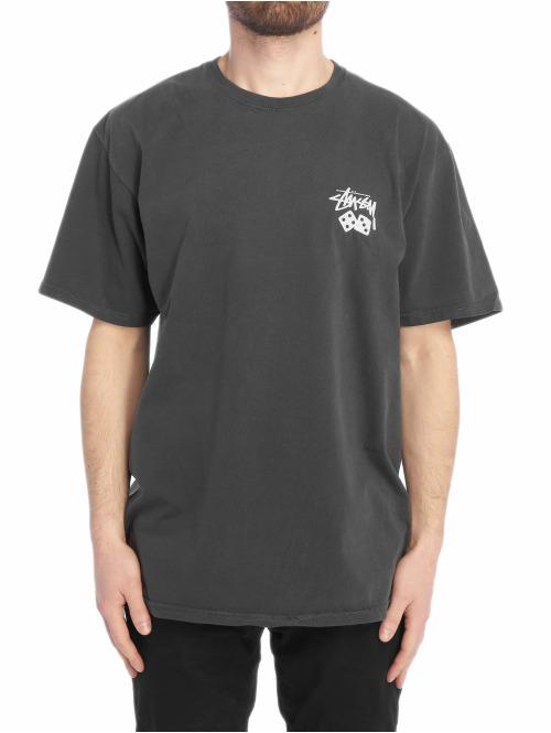 Stüssy T-Shirt Dice Pig Dyed schwarz