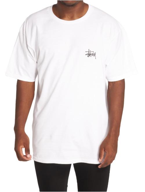 Stüssy T-Shirt Basic Stussy weiß