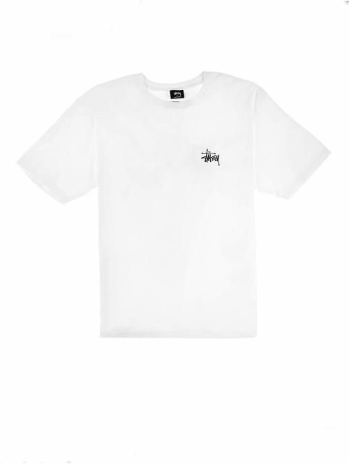 Stüssy T-Shirt Basic weiß