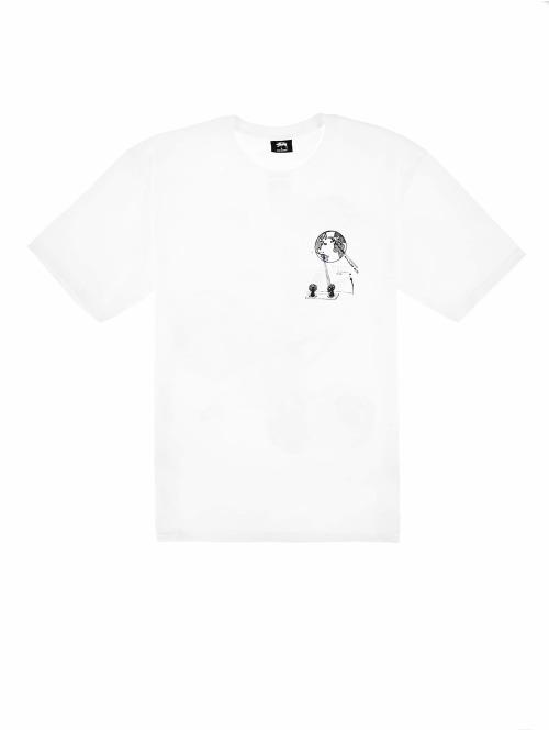 Stüssy T-Shirt Space weiß