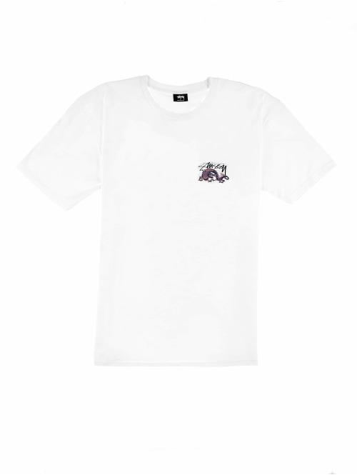 Stüssy T-Shirt Dynasty weiß