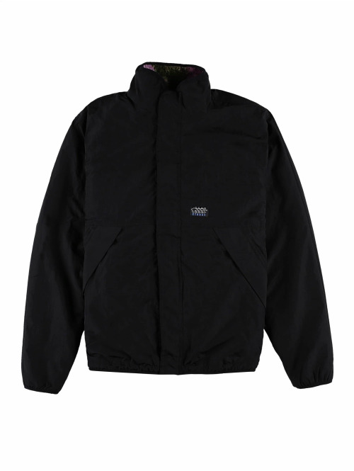Stüssy Winterjacke Rev Micro Fleece schwarz