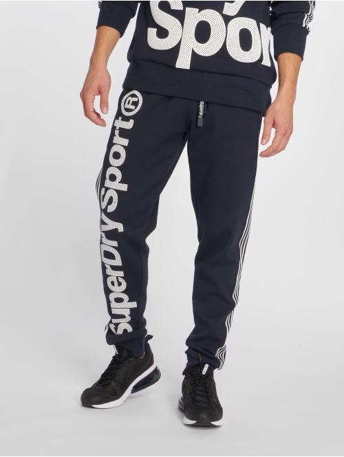 Superdry Jogginghose Combat Sport blau