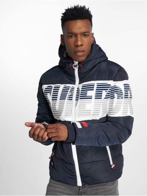 Superdry Puffer Jacket Japan Breakers Utility blau