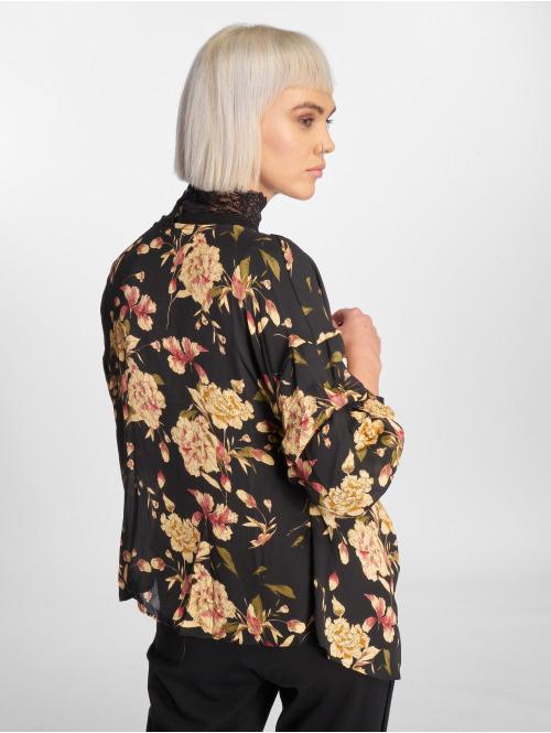 Sweewe Bluse Floral schwarz