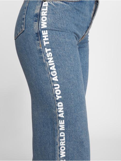 The Ragged Priest High Waist Jeans Darling Printed blau
