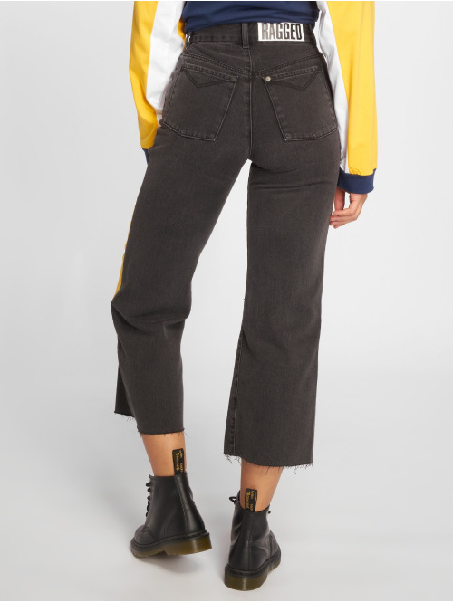 The Ragged Priest High Waist Jeans Scrap grau
