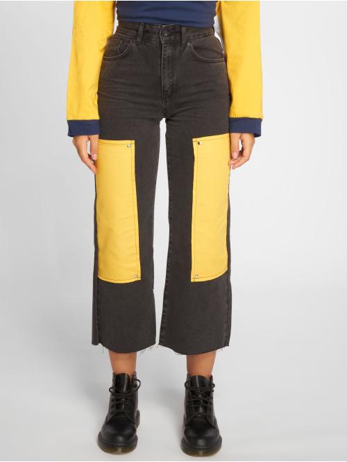 The Ragged Priest High Waist Jeans Scrap grau