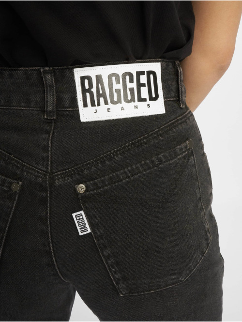 The Ragged Priest High Waist Jeans Grip Cropped Skater schwarz