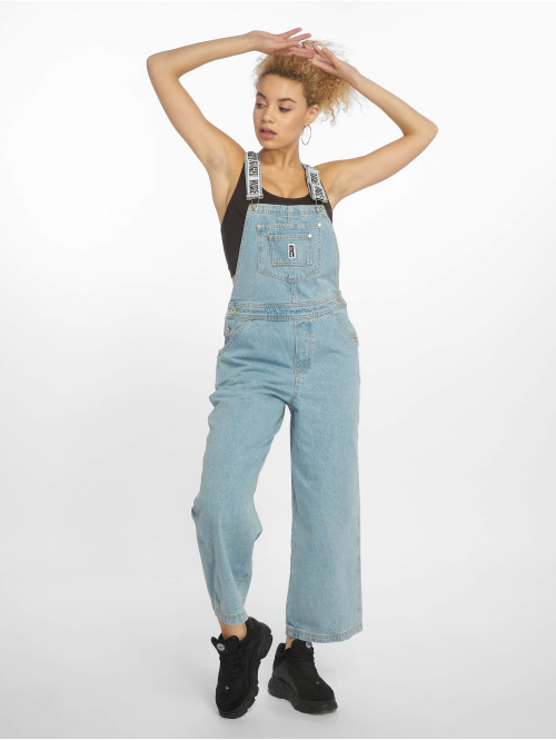 The Ragged Priest Latzhose Relaxed Fit Dungarees blau