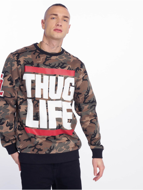 Thug Life Jumper  B.Fight Sweatshirt Camo...