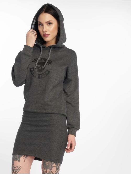 Thug Life Kleid  Beyon Dress Anthracite M...