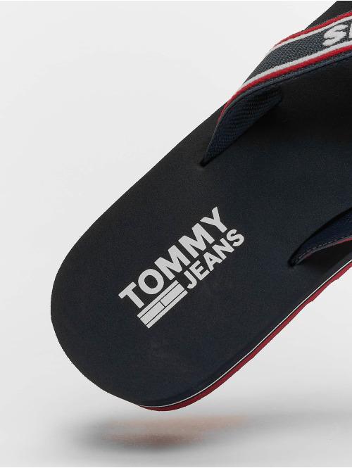 Tommy Jeans Sandalen Jeans Pop Webbing Mid Beach blau