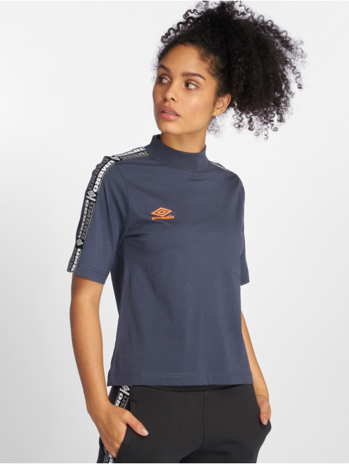 Umbro T-Shirt High Neck blau