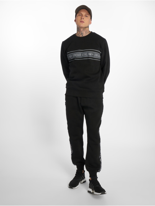 UNFAIR ATHLETICS Pullover Athl. Striped schwarz