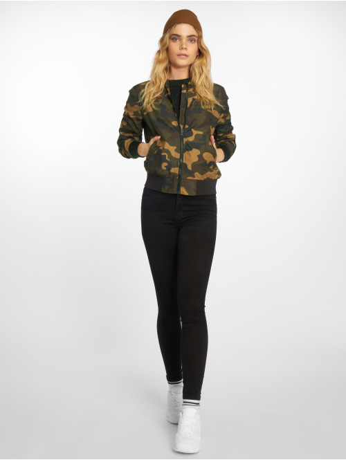 Urban Classics Bomberjacke Ladies Light Camo camouflage