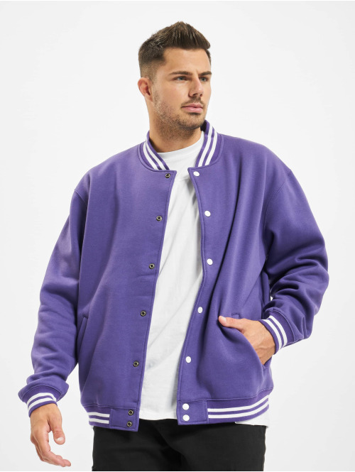 Urban Classics College Jacke Sweat violet