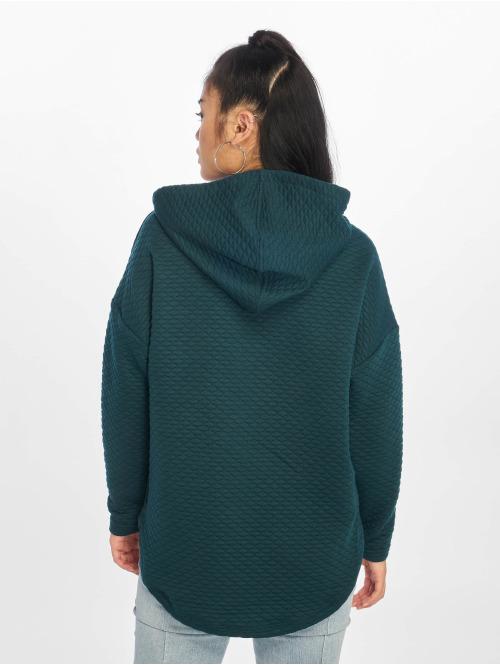 Urban Classics Hoody Quilt Oversize blau
