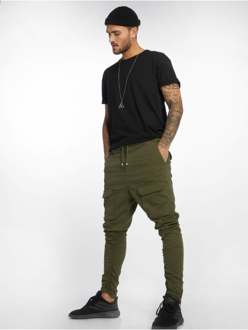VSCT Clubwear Cargohose Noah Gathered Leg khaki