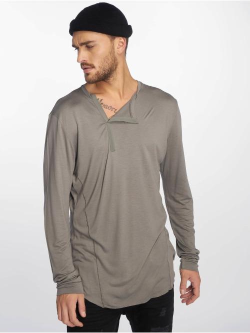 VSCT Clubwear Longsleeve Cut Collar grau