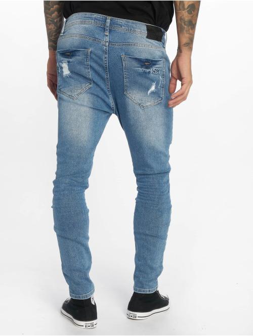VSCT Clubwear Slim Fit Jeans Keanu Lowcrotch blau