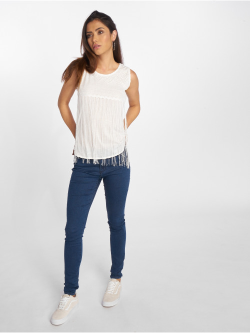 VSCT Clubwear Top Fringes weiß