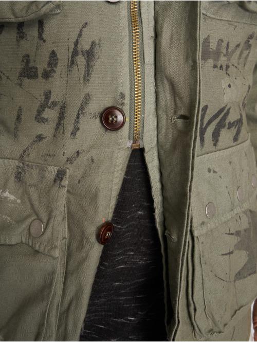 VSCT Clubwear Übergangsjacke Handpaint Military grau