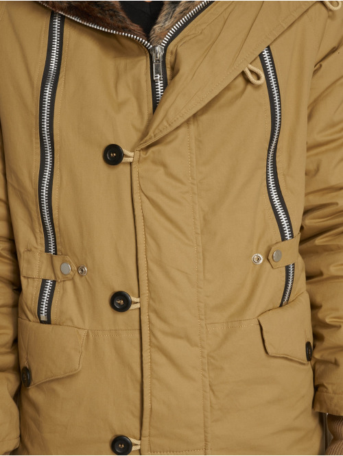 VSCT Clubwear Winterjacke Double-Zipper Huge Luxury braun