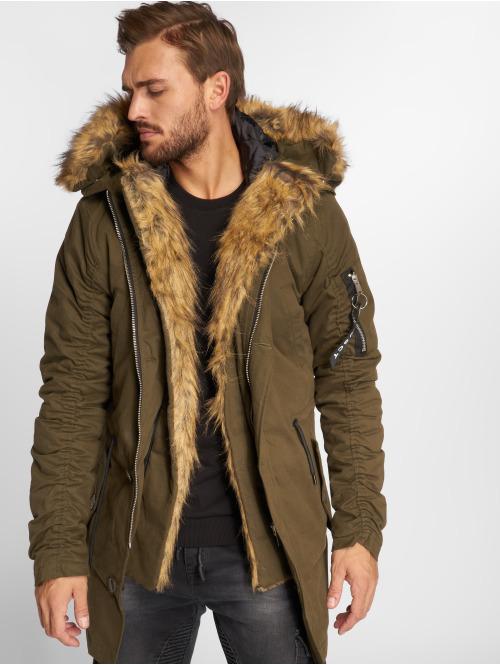 VSCT Clubwear Winterjacke 2-Face khaki