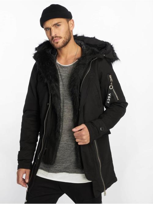 VSCT Clubwear Winterjacke Zip Decor schwarz
